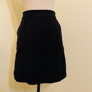 Casual A-line black skirt